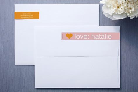 Pink and Orange Skinnywrap™ Address Labels