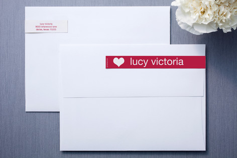 Strawberry Red Skinnywrap™ Address Labels