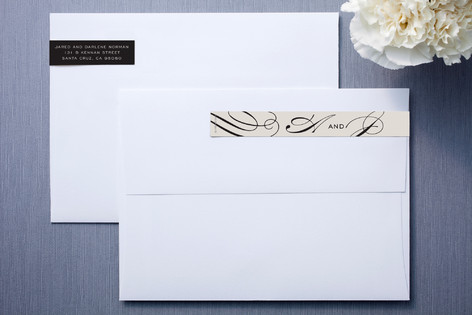 Ivory and Black Skinnywrap Address Labels