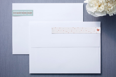 just married Skinnywrap™ Address Labels