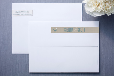 SWEET LINEN Skinnywrap Address Labels