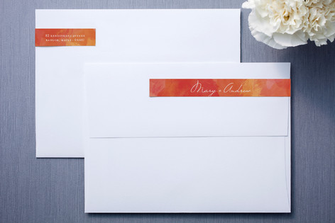 Aquarelle Skinnywrap Address Labels