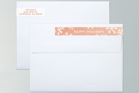 Snowflake Wishes Skinnywrap™ Address Labels