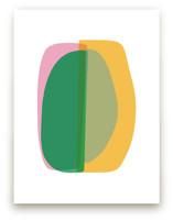 spring green abstract by tina johnson