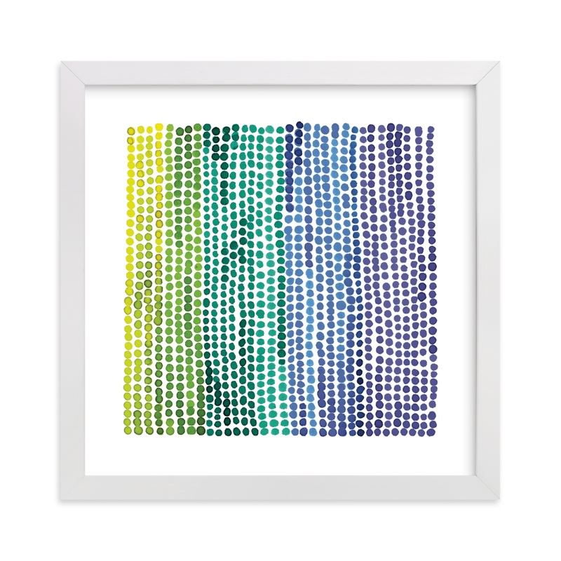 Rainbow Dots 2 Children's Art Print