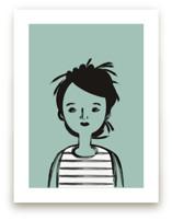 Girl in Stripes by Amy Mullen