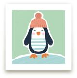 Little Penguin Print by Ekaterina Romanova