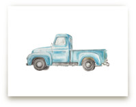 Vintage Turquoise Pickup Truck