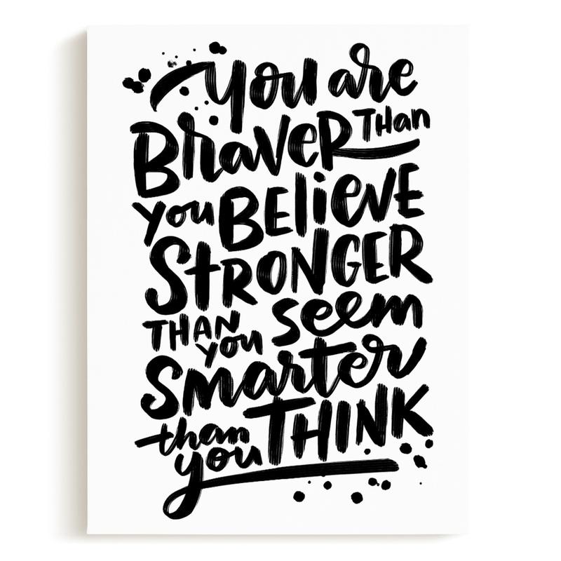 Braver Stronger Smarter Children's Art Print
