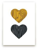 Wood Grain Hearts
