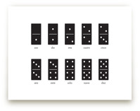 Counting Dominoes Art Prints