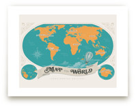 Map Of The World Art Prints