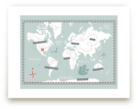 Treasure Map Art Prints