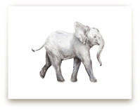 Baby Watercolor Elephant