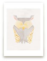 Feathered Folds No. 3 Art Prints