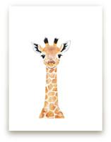 Baby Giraffe 2 Wall Art Prints
