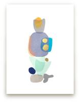 navy blue gold totem by tina johnson