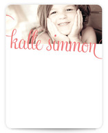 21st Century Girl Children&#039;s Personalized Photo Stationery