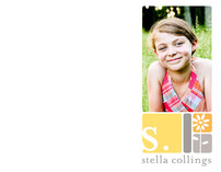 alpha blocks Children's Personalized Photo Stationery