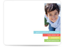 Bright Stripes Children&#039;s Personalized Photo Stationery