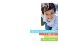 Bright Stripes Children's Personalized Photo Stationery
