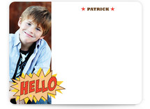Comic Book Kid Children&#039;s Personalized Photo Stationery