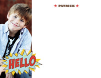 Comic Book Kid Children's Personalized Photo Stationery