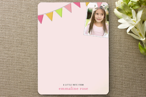 Fun Flags Children's Personalized Photo Stationery