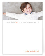 Little Letters Children&#039;s Personalized Photo Stationery