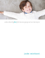 Little Letters Children's Personalized Photo Stationery