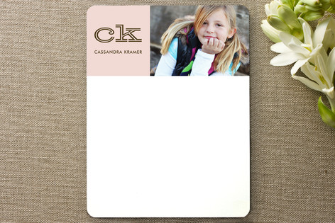 Bold Block Children's Personalized Photo Stationery