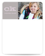 Bold Block Children&#039;s Personalized Photo Stationery