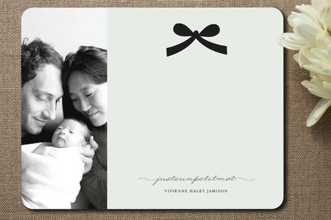 Paris + Vintage Ribbon Children's Personalized Photo Stationery