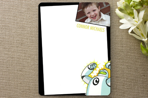 Robot Children's Personalized Photo Stationery