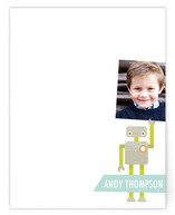 Robot Friends Children&#039;s Personalized Photo Stationery