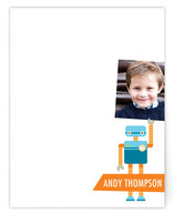 Robot Friends Children's Personalized Photo Stationery