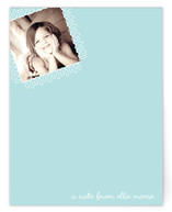 swirly stamp Children's Personalized Photo Stationery
