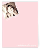 swirly stamp Children&#039;s Personalized Photo Stationery