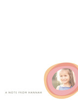 Two Circles Children's Personalized Photo Stationery
