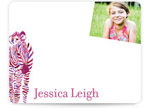 Zebra Children&#039;s Personalized Photo Stationery