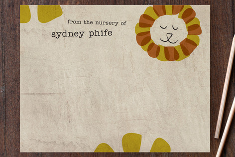 Happy Lion Children's Personalized Stationery