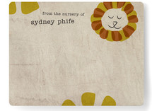 Happy Lion Children&#039;s Personalized Stationery