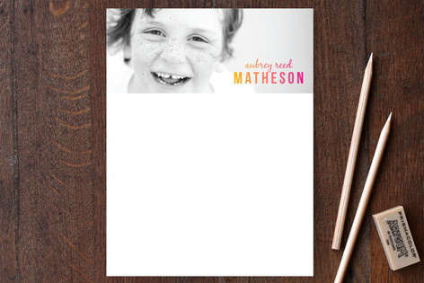 Color Boost Children's Personalized Stationery