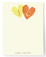 Double Heart Children's Personalized Stationery