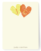 Double Heart Children&#039;s Personalized Stationery