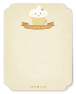 Thanks, Cupcake Children's Personalized Stationery