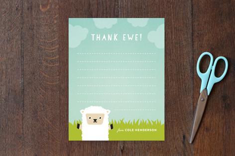 Thank Ewe Children's Stationery