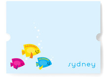Here Fishy Fishy Children&#039;s Personalized Stationery