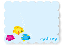 Here Fishy Fishy Children's Personalized Stationery
