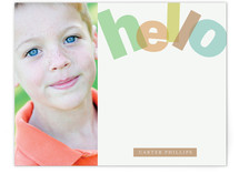 Big Bright Hello Children&#039;s Personalized Stationery